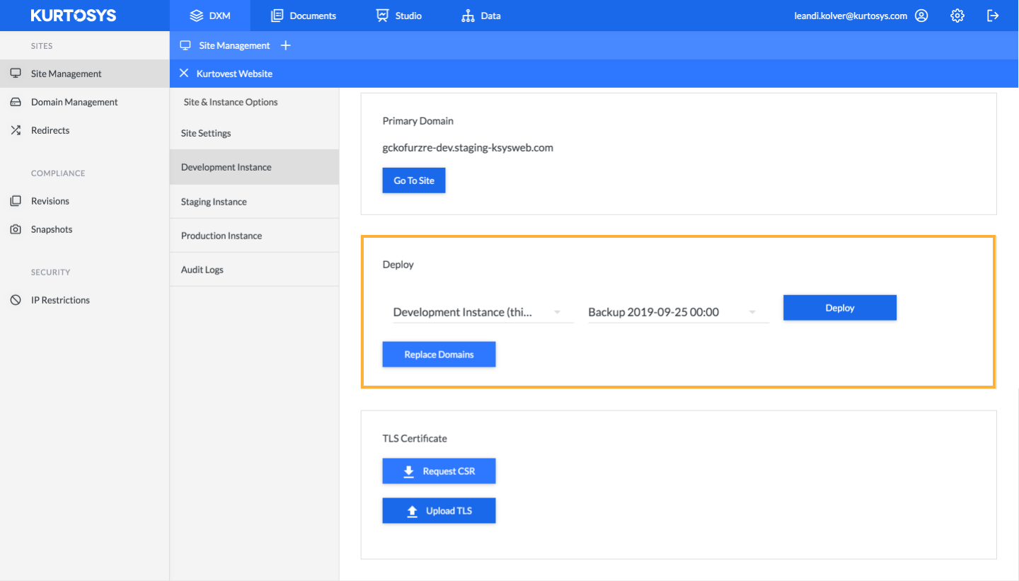 How to manage your site using Kurtosys DXM 2