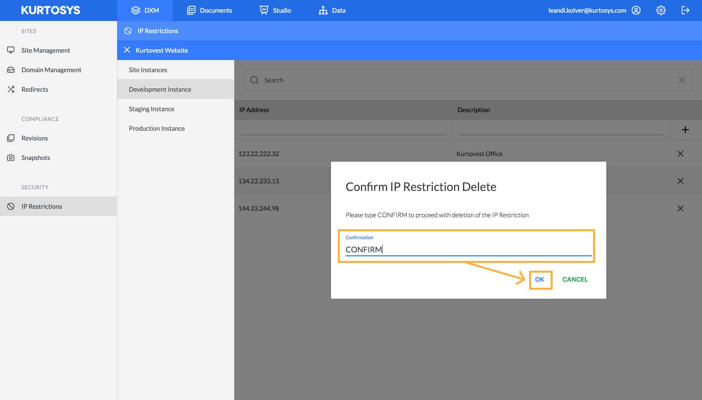 How to set up Kurtosys DXM IP Restrictions 6