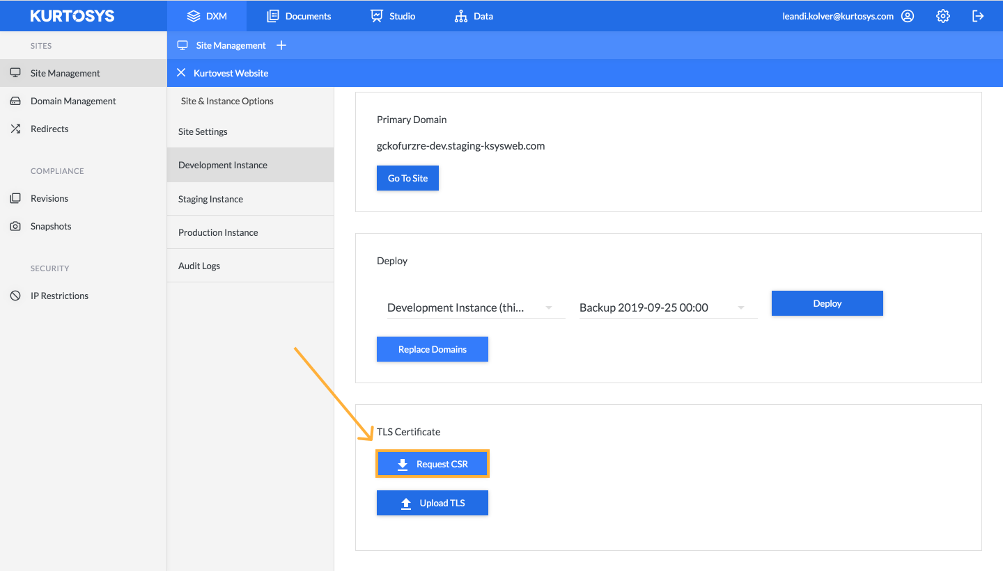 How to manage your site using Kurtosys DXM 3