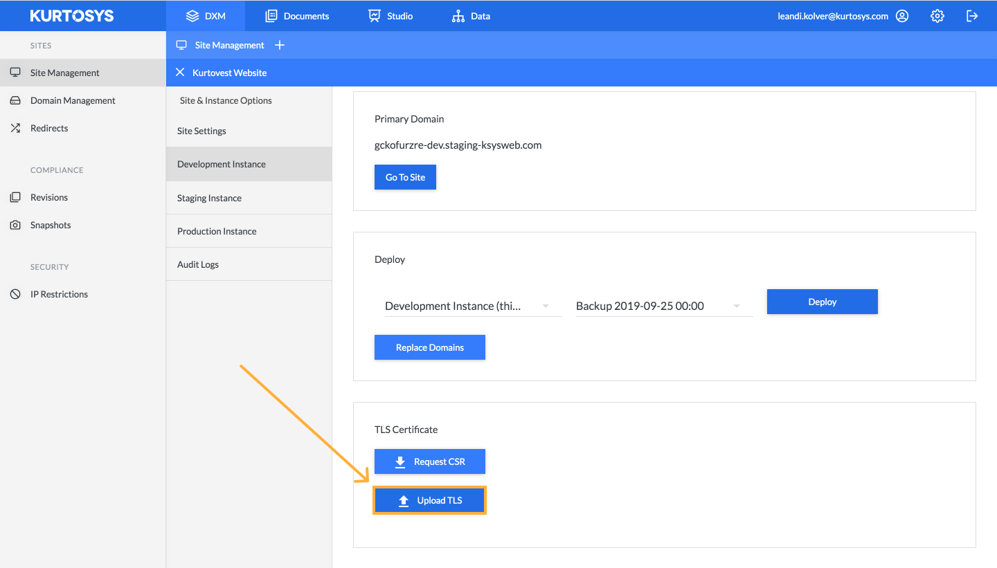 How to manage your site using Kurtosys DXM 4