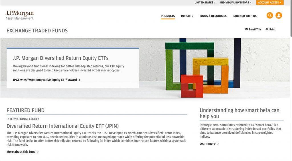 14 of the Best Designed ETF Websites 12