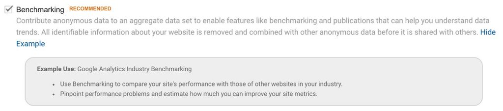 Using Google Analytics Benchmarks for your Investment Management Website 2