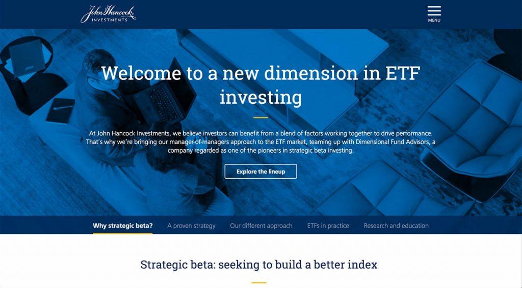 14 of the Best Designed ETF Websites 11