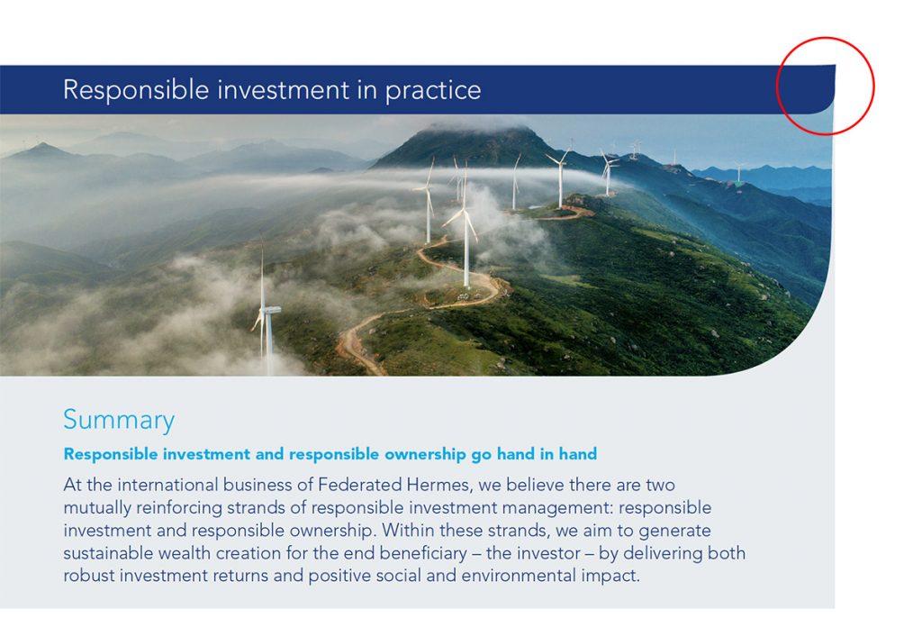 Leaders in ESG data visualization: Federated Hermes 5