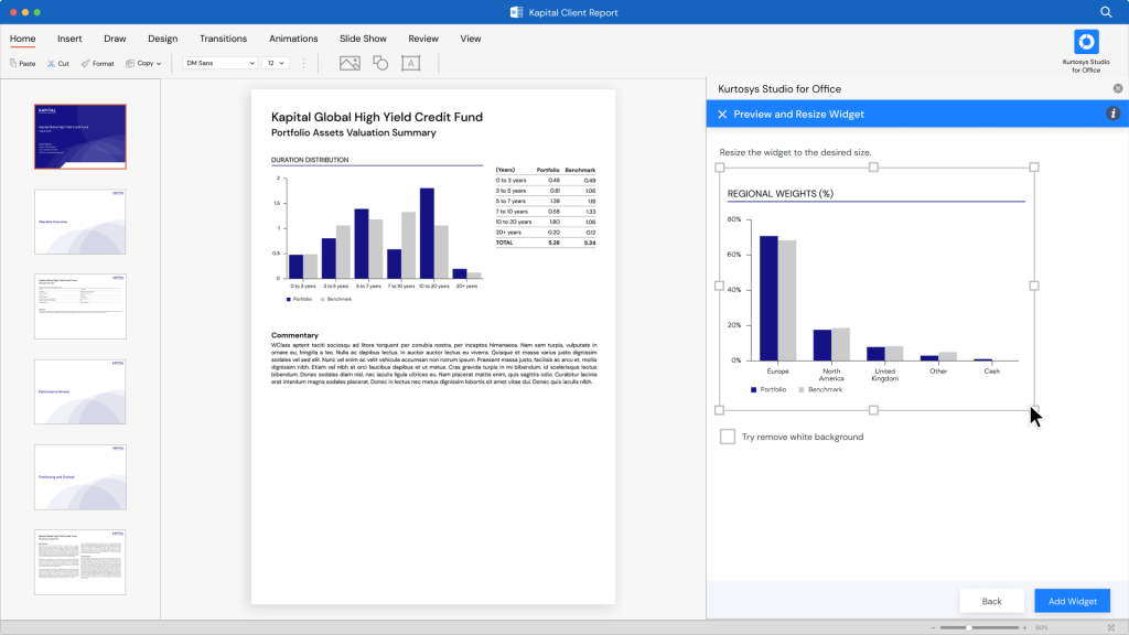 Kurtosys Studio for Office - a game-changer for Asset Management Report Automation 2