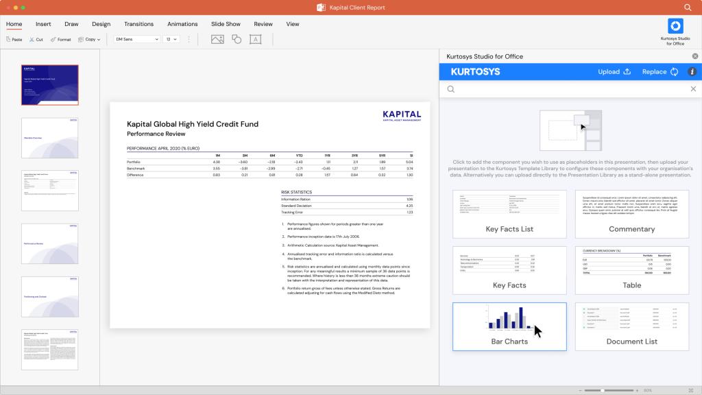 Kurtosys Studio for Office Microsoft PowerPoint