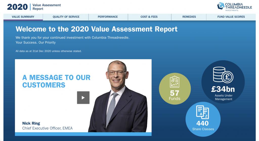 columbia threadneedle - value assessment report 2020